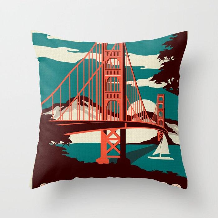 Vintage poster - San Francisco Throw Pillow