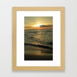 Michigan Sunset 1 Framed Art Print
