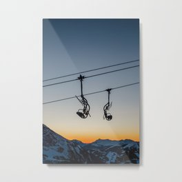 Sunset Chairlifts Metal Print