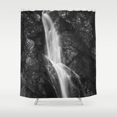 Waterfall in Hell Gorge, Slovenia Shower Curtain