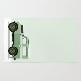 Car illustration - land rover defender Rug