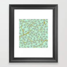 mint flowers Framed Art Print