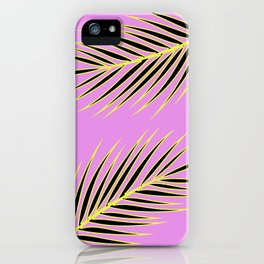 PINK PALM iPhone Case