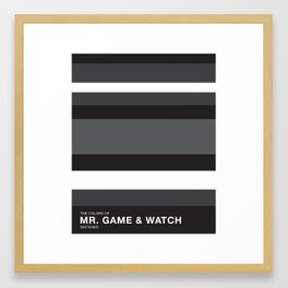 The Colors of Mr Game & Watch Framed Art Print