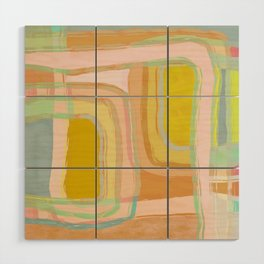 Shapes and Layers no.28 - Modern Squares and Stripes Wood Wall Art
