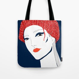 the girl with the hat Tote Bag