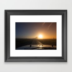 Sunrise Road Framed Art Print