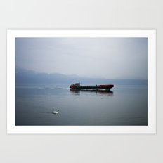 Coming into port Art Print