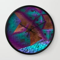brave Wall Clocks featuring Brave by Fractalinear