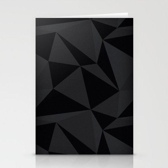 Triangular Black Stationery Cards