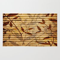 bamboo Area & Throw Rugs featuring Bamboo by Robin Curtiss