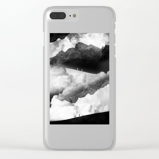 State of black and white isolation Clear iPhone Case