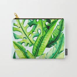 Tropical Summer Leaves Carry-All Pouch