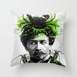 Brain Alien Throw Pillow