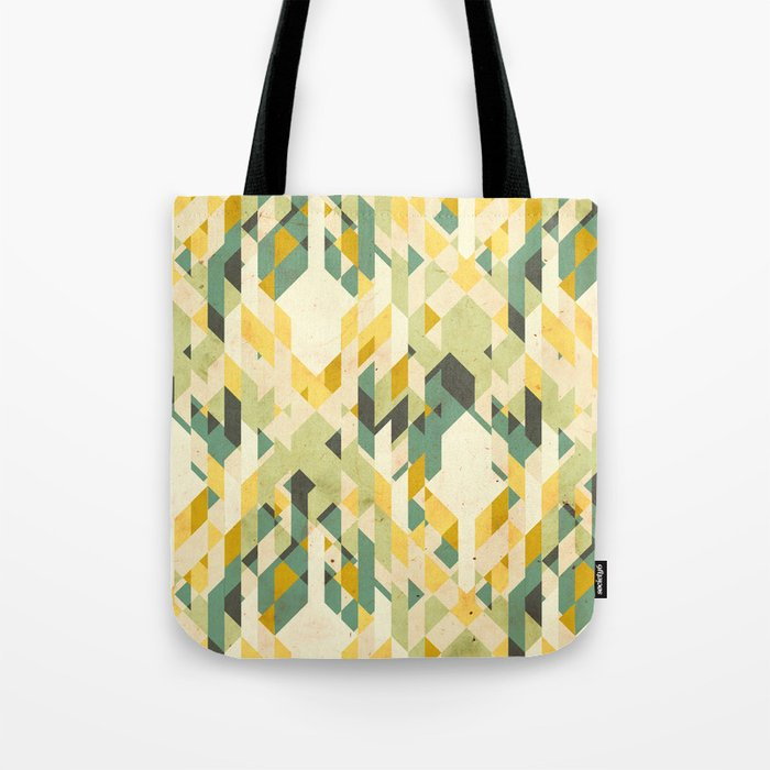 des-integrated tartan pattern Tote Bag