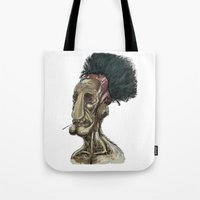 video game Tote Bags featuring Video game character  by Jay Taylor