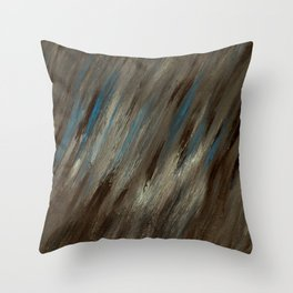 Closed Eye Mountain Landscape Throw Pillow