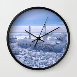Mount Washington Observatory, Winter, New Hampshire Wall Clock