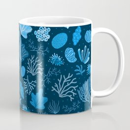 Hand Drawn Deep Sea Coral Pattern Coffee Mug