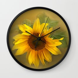Sunflower II Wall Clock
