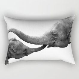 Wildlife Collection: Elephant Love Rectangular Pillow