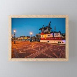 Docked along Broadway Pier Framed Mini Art Print