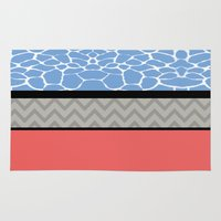 preppy Area & Throw Rugs featuring Confused Preppy Prints by Raizhay Lough