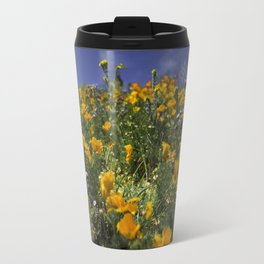 Orange Poppies on the Hill Side Travel Mug