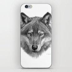 Wolf face G084 iPhone & iPod Skin