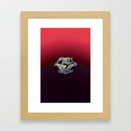 Faux Real - Red - This is Not Typography Framed Art Print