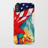 supergirl iPhone & iPod Cases featuring Supergirl Patriot by OverseerN