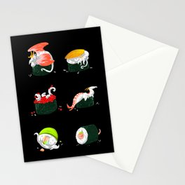 Sushi Dragons Stationery Cards