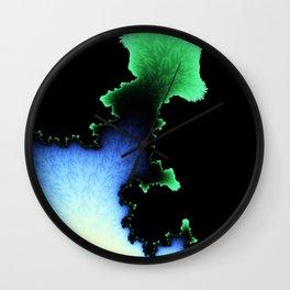 Julia's Joy - fractal abstract art Wall Clock
