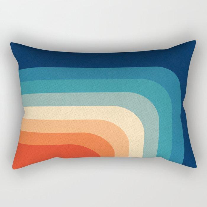 Retro 70s Color Palette III Rectangular Pillow