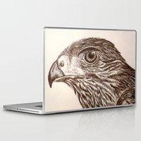 hawk Laptop & iPad Skins featuring Hawk by Leslie Creveling