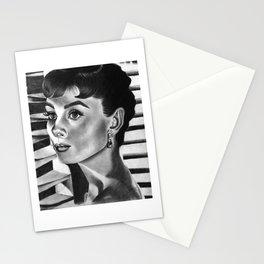 Portrait of Audrey Hepburn Stationery Cards