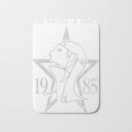 Sisters of Mercy shirt with '1985' - Distressed Worn out version Bath Mat