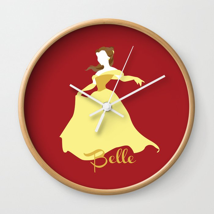 Belle From Beauty And The Beast Wall Clock