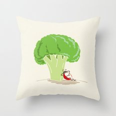 Cauliflower Tree Throw Pillow