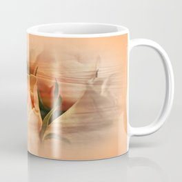 Hazy Apricot Beauty Rose Abstract Coffee Mug
