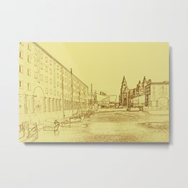 Albert Dock, Liverpool (Digital Art) Metal Print