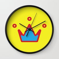 crown Wall Clocks featuring CROWN by ^NHRK