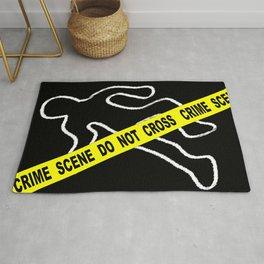 Crime Scene Chalk Mark Rug
