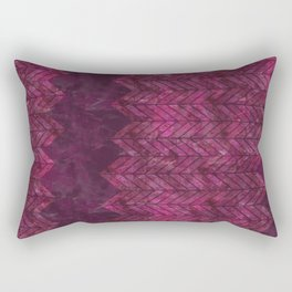 Painted Chevron Rectangular Pillow