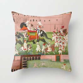 M. Balwant Singh with Colonel Borthwick Throw Pillow