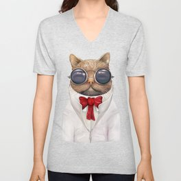Astro Cat Unisex V-Neck