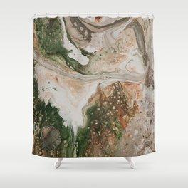 Kirsten Paint Pour Shower Curtain