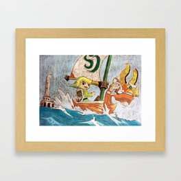 Legend of Zelda : The Wind Waker - chalk art Framed Art Print