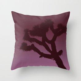 Joshua Tree in Magenta Throw Pillow