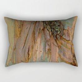 Eucalyptus Tree Bark and Wood Abstract Natural Texture 27 Rectangular Pillow
